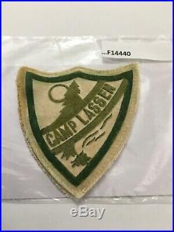 Camp Lassen Flocked On Sateen Patch 1940s F14440