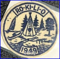Camp Ro-Ki-Li-O 1949 Felt Patch Kettle Moraine Council Bay Lakes Boy Scouts BSA