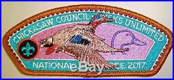Chickasaw Oa 558 Tn 2017 Jamboree 7-patch Dog Ducks Unlimited Reflective Stamps