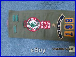 Cub & Boy Scout Vintage Merit Badge Sash WithEagle Medal & All Rank Patches & Pins