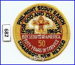 DEALER DAVE Boy Scout 1960 JAMBOREE PHILMONT SCOUT RANCH PATCH, MINT (683)