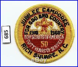 DEALER DAVE Boy Scout 1960 JAMBOREE SCARE RICH SQUARE, NC CAMPOREE PATCH (685)