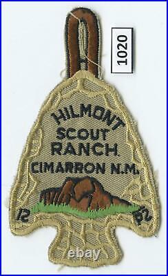 DEALER DAVE Boy Scout PHILMONT'MISSING P' ERROR AROWHEAD PATCH, PRISTINE (1020)