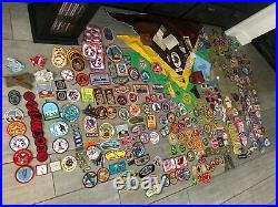 Entire Boy Scout Collection! 489 Patches 2 Sashes 4 Neckerchiefs Mug Keychain