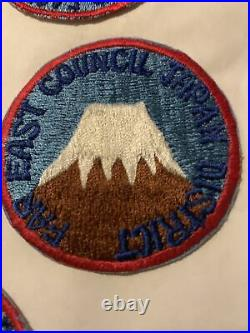 FAR EAST COUNCIL Patches Lot Of 6, 2 1/4 INCHES- ROUND, MINT 4 Twill, Boy Scou