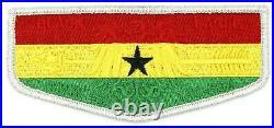 Ghana Flag Black Eagle Lodge 482 Flap Transatlantic Council Patch OA BSA