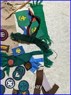Girl Scouts Lot Pins, Patches, Flags Guides Brownies Pins Huge Lot Boy Scouts