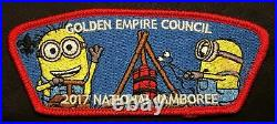 Golden Empire Council Bsa Oa 47 2017 Jamboree 7-patch Minions Red Contingent Set