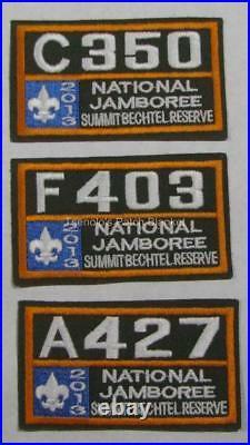 Grand Teton Council 2013 National Jamboree JSP Master All Patches Set FREE SHIP