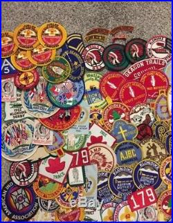 HUGE 1950s 60s 390pc. BOY SCOUT OF AMERICA PATCHES / MERIT BADGES Lot Indiana