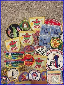 HUGE 1960s 134pc. BOY SCOUT OF AMERICA PATCHES / MERIT BADGES Lot Indiana