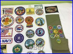 HUGE Vintage 130pc. BOY SCOUT OF AMERICA PATCHES / MERIT BADGES Jamboree Lot