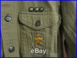 Holyoke Boy Scout 1940's Shirt with Insignia & Unknown FMV Felt Patch TH2 UF07