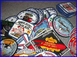 Huge Lot of 350 Boy Scouts Patches Camps, Nassau County, Suffolk County NY