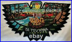 Indian Nations Council Bsa Oa 138 Ta Tsu Hw 2017 National Jamboree 7-patch Set