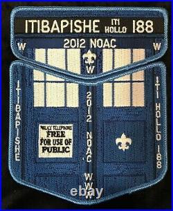 Itibapishe Iti Hollo Oa Lodge 188 Bsa Central Nc 2012 Noac Tardis 2-patch Dr Who