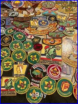 LARGE LOT 200+ Vintage Boy Scout Cub Scout Patches Scarves