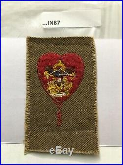 Life Scout Rank Patch Red Hanging Knot 1915-1924 In67