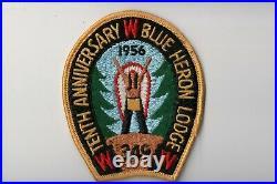 Lodge 349 Blue Heron X2 10th Anniversary 1956 Patch Cm01071