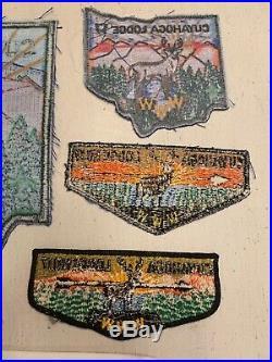 Lot Of 5! OA Boy Scout CUYAHOGA Lodge 17 WWW Back, Pocket, Flap Patch Neckerchief