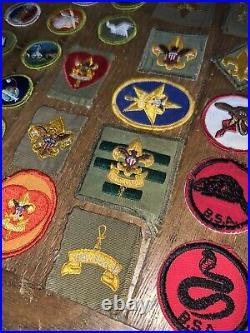 Lot Of 57 Vintage BSA Boy Scouts Of America Badges Patch Lot Merit Sash Arrow