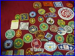 Lot of 105 Boy Scout patches BSA cheif okemos others