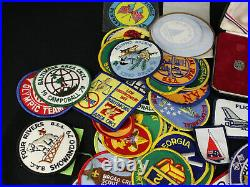 Lot of 90+ 1970s Early 80s Patches Boy Scouts, Eagle Set, Sailing, Karate, NASA+