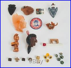 Lot of Vintage 60's Boy Scouts Patches, Badges, Pins, Neckerchiefs & Slides Etc