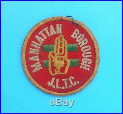 MANHATTAN BOROUGH J. L. T. C. Boy scouts original vintage patch 1940's RRRRR
