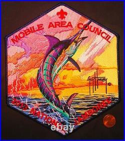 MOBILE AREA COUNCIL AL 2013 SCOUT Jamboree OA 322 MARLIN GUY HARVEY JACKET PATCH