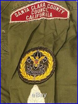 Men's 1960s Lot of Boy Scouts Shirts Sash Patches Santa Clara County California