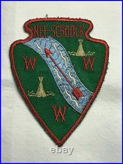 Merged OA Lodge #143 NEE SCHOOK Type A-1 First Lodge Issue Patch Rare
