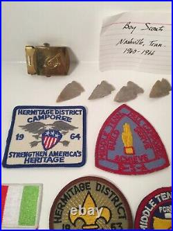 Mix Lot Of Boy Scouts Of America 1960-2010 Patches, Pins And Arrow Heads