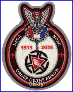 NESA National Committee 2015 NOAC OA Chenille Patch Badge Set Order of the Arrow