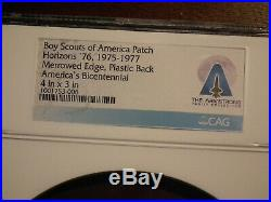 Neil Armstrong Collection Apollo 11 Boy Scout Patch/ Ngc Cag Certified