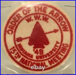 OA 1948 NOAC 48 Perfect Mint Rare FELT Round Patch You will want to buy this