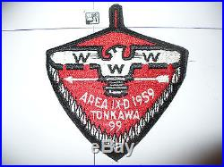 OA 1959 Area 9-d, IXD, Conference Patch, pp, 99 Tonkawa HOST, 60,199,272,295, Texas, TX