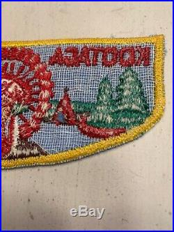 OA Boy Scout Patch- KOOTAGA Lodge 201 F-1 Flap