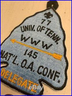 OA Boy Scout Patch-NACHENUM Lodge 145 WWW Univ Tenn National Conference Delegate