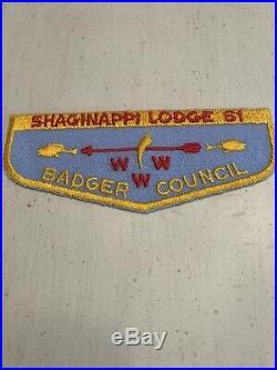 OA Boy Scout Patch-SHAGINAPPI Lodge 61 WWW F-1 Flap