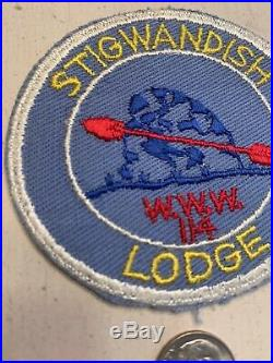 OA Boy Scout Patch- STIGWANDISH Lodge 114 WWW R-1 Circle