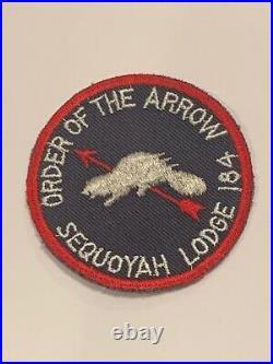OA Lodge 184 Sequoyah 184R1 WAB Rare Round Patch