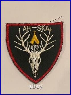 OA Lodge 213 Ah-Ska 213X1b Rare Patch Mint