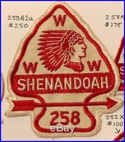 OA Lodge 258 Shenandoah 258A2a Rare Mint Patch