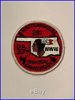 OA Lodge 281 Sekettummaqua 281R2 Rare Mint Round Patch