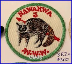 OA Lodge 3 Nawakwa 3R2a RARE Round Patch