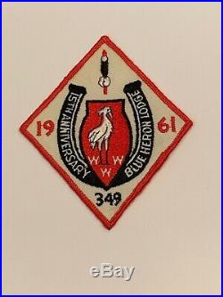 OA Lodge 349 Blue Heron 349X4 Rare Mint Patch