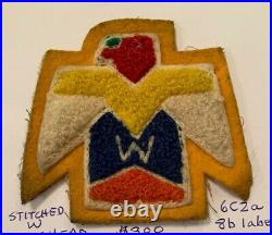 OA Lodge 6 Wagion 6C2a 8b label RARE chenille Patch Stitched with Flat Head