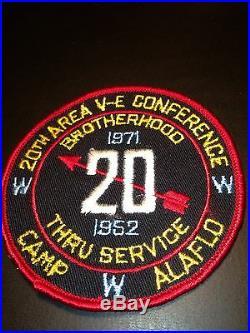 Oa 1971 Area Ve Fellowship Conference Conclave Patch Camp Alaflo