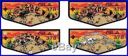 Oa Gila Lodge 378 Yucca Texas 2018 Noac Flap 4-patch Color Zombie Set Few Made